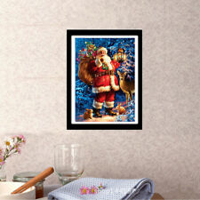 5D DIY Diamond Painting Pattern Santa Claus with gifts Cross Stitch Home Decor -