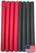 """(8) 12"""" Black Red Heat Shrink Tubing 1"""" Dual Wall Adhesive Glue Lined Wrap 3:1"""