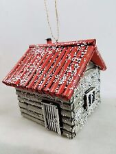 Big Timber Woodland Cabin Ornament Snowy Accents New Outdoor Lodge
