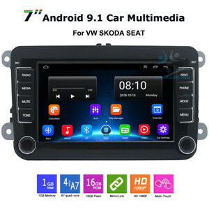 Android9 Head Unit Car Stereo Radio GPS Bluetooth For Skoda Yeti Superb Roomster