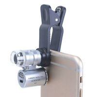 Mini 60 X Tasche Mikroskop Vergrößerungsglas Lupe Lupe mit LED Licht UV Schmuck