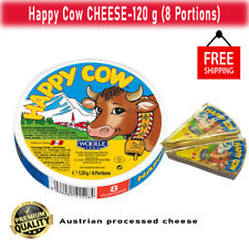 Happy Cow CHEESE Fresh Natural Cow milk cheese 120 g (8 portions) Free Shipping