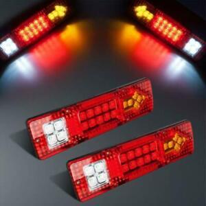 2PCS 19-LED Waterproof Tail Lights Kit RV Camper Trailer Rear Turn Signal DC 12V