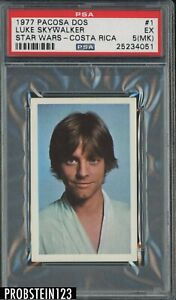ONLY 3 EVER GRADED!  Luke Skywalker 1977 Star Wars Pacosa Costa Rica #1 PSA 5 RC