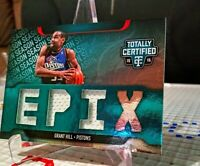 Grant Hill 2015-16 Totally Certified EPIX Triple Memorabilia /99 game worn used