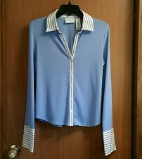 Liz Claiborne Button Front Blouse Top Shirt School Work