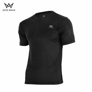 T Shirt Mens Football Top Gym Sports Size S M L XL Black Blue New