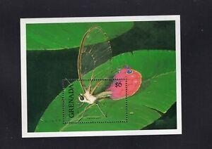 Grenada 1991 Haetera Piera  Butterfly Minisheet MNH  Sc 1948 SG MS2221b