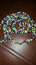 african waist bead multicolor triple strand twist