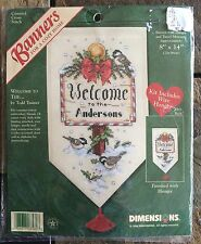 Dimensions Counted Cross Stitch Winter Banner Kit Welcome To The.. Todd Trainer