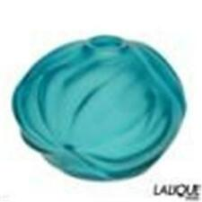 LALIQUE SOLIFLORE B ROYAL PALM TURQ. CL. COLLECTION MADE IN FRANCE STUNNING VASE