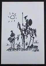 Pablo Picasso Don Quixote Lithograph On Arches Paper Signed In Print 10-8-55