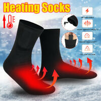 Electric Heated Socks Rechargeable Battery Feet Warmer Adjustable Temperature d