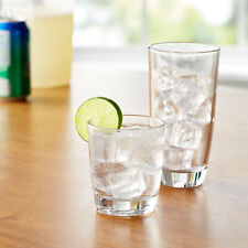 Mainstays 16-Piece Drinkware Glass Set, Clear