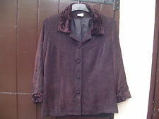 Vintage Matelli brown jacket with Collar and Cuffs