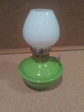 Vintage Miniature Oil Lamp with Single Burner & Chimney