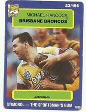 Scanlens Brisbane Broncos NRL & Rugby League Trading Cards