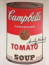 ANDY WARHOL HAND SIGNED SIGNATURE * CAMPBELL'S SOUP CAN I *  PRINT  W/ C.O.A.
