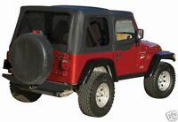 BLACK SOFT TOP PLUS UPPER SKINS & TINTED REAR WINDOWS 97-2006 FOR JEEP WRANGLER