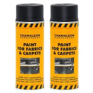 Teppich Farbspray Textil Cabriolet Farbe Schwarz 2 x 400ml Fußmatten Chamäleon