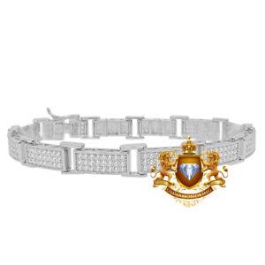 Genuine Diamond 0.50 Cwt. White Gold Over Men's Ladies Tennis Link Bracelet 8''