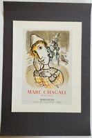 Chagall The Circus with Yellow Clown  Mourlot  Poster Lithograph 9.5 x 12.5 1975
