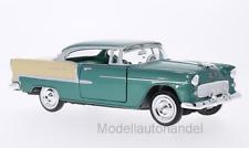Chevrolet Bel Air Hardtop, metallic-grün/beige, 1955 - 1:24 MotorMax   *NEW*