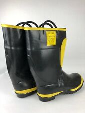 1987 Ranger Firemaster Rubber Firemans Boots Vintage Made in USA Free Shipping