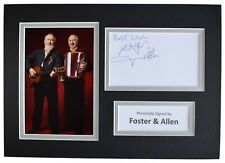 More details for foster & allen signed autograph a4 photo mount display music ireland aftal coa