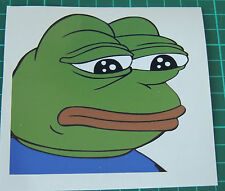 Sad Pepe Stickers Decals 5x5cm Meme Rare Frog Feels 4chan