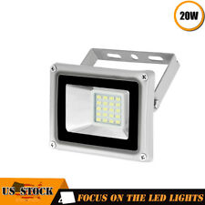 1 x 20W LED Flood Light 110V Outdoor Spotlights Landscape Garden Yard Cool White