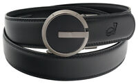 QHA Mens G Automatic Leather Belt Ratchet Casual Buckle Q31