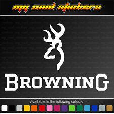 Browning 20cm Vinyl Sticker Decal, ute car hunting deer buck fishing firearm