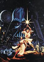 STAR WARS Movie PHOTO Print POSTER Vintage Textless Film Art A New Hope 007