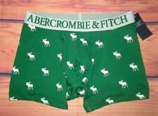 MENS ABERCROMBIE & FITCH MOOSE GREEN BOXER BRIEF SIZE S