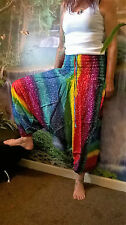 RAINBOW PANTS , ALADDIN , HAREM , BEACH HOLIDAY FESTIVAL , HIPPY , BOHO SD24