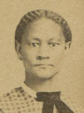 CIVIL WAR ERA CDV. AFRICAN AMERICAN WOMAN WITH HANDS BANDAGED.
