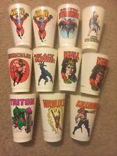Lot of 18 Plastic Cups ; 7-11 Slurpee Cup ; Marvel , Dc , Movies , Max Headroom