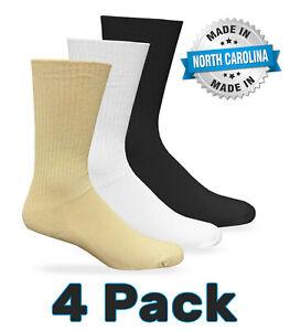 4 Pair Carolina Ultimate Mens Non-Binding Diabetic Health Crew Circulatory Socks