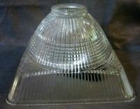 Vintage Art Deco Globe Shade ceiling or a floor pole lamp Crystal clear USA