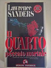 LIBRO - LAWRENCE SANDERS - IL QUARTO PECCATO MORTALE - SPERLING PAPERBACK 1992