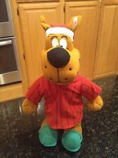 Scooby Doo dressed in red pajamas & slippers plush stuffed animal