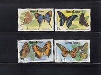 Sierra Leone 1979 Butterflies Sc  447-450 Complete Mint Never Hinged