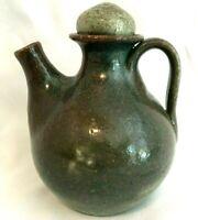 Vintage  JUGTOWN WARE North Carolina Pottery Small Spout Jug with Stopper Cruet