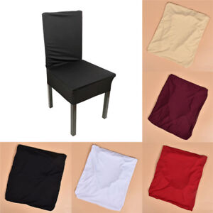 Multicolor Elastic Chair Covers Full Seat Cover Spandex Stretch Banquet Wedding