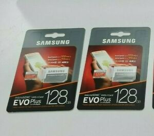2x 128GB Samsung Evo Plus Micro SD-XC Speicher-karte 4K HD Handy Kamera Drohne
