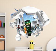 The LEGO Ninjago Movie 3D Broken Wall Decal Cracked Hole Vinyl Home Decor CG777