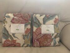 "S2 Pottery Barn Cynthia Floral Drape Ivory 50x84"" Curtain Pole Pocket NEW NWT"