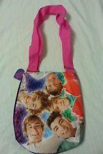 One Direction Girls Purse Cross Body Tote Bag Handbag Pink Purple 1D