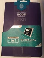 INTEGRALE Buckuva 10 in (approx. 25.40 cm) Ipad Tablet Universal Folio Estuche de Cuero Púrpura/Turquesa